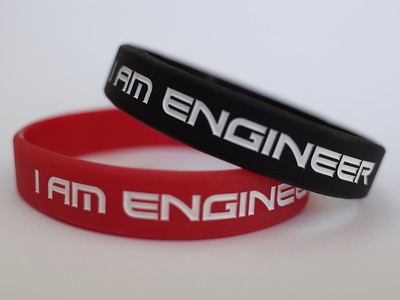 I AM ENGINEERデボス加工リストバンド