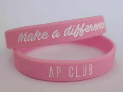 Make a difference AP CLUBデボス加工リストバンド
