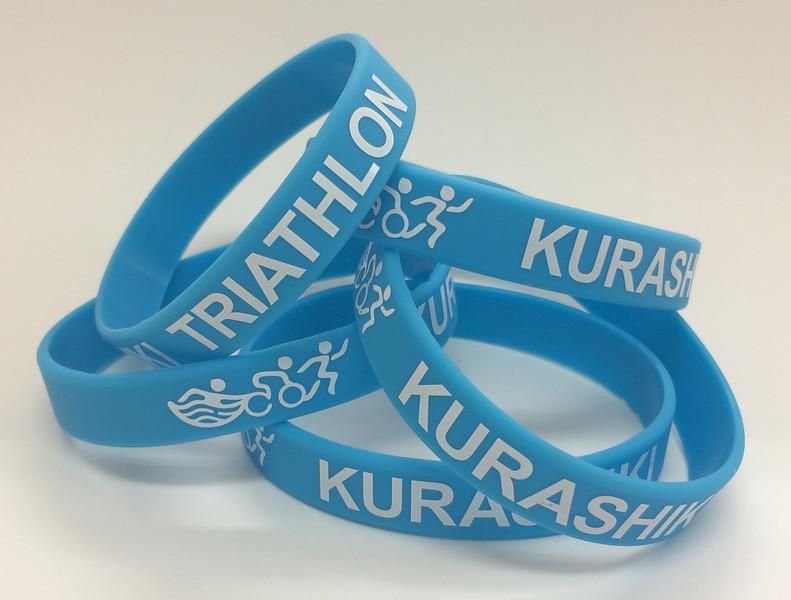 KURASHIKI TRIATHLONシルク印刷リストバンド