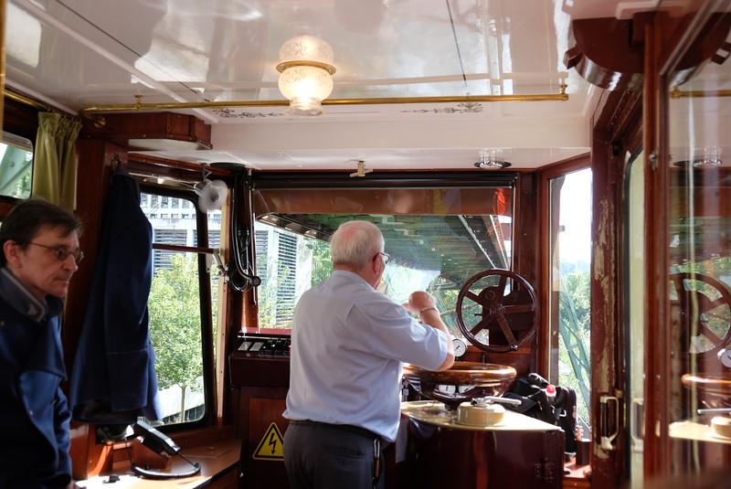 Driver in Kaiser Car