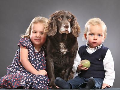 familj, barn och djur