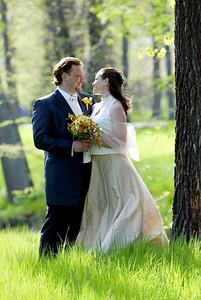 Bröllopsfotografering ute i naturen