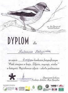 """Konkurs """"Ptaki zimujące w kraju. Zdjęcia, zwyczaje, wiedza."""" Warszawa"""