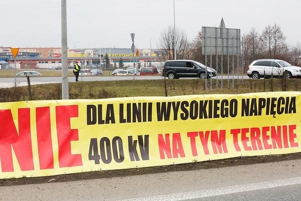 Protest przeciwko budowie linii 400kV Mszczonów ©Agata Katafiasz-Matysiak