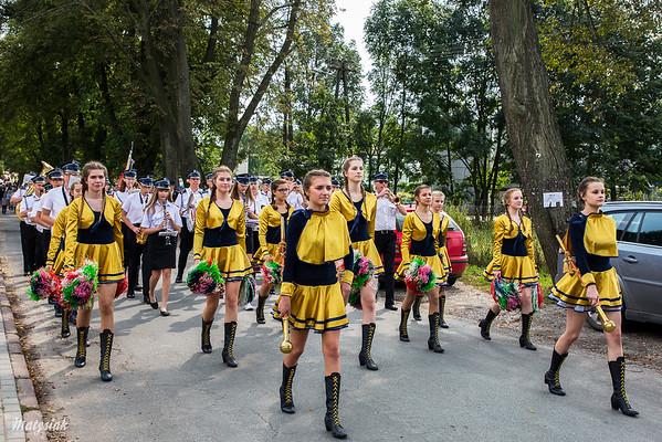 Gminne Dożynki w Osuchowie (gm. Mszczonów) parada, 10.09.2017 ©Agata Katafiasz-Matysiak