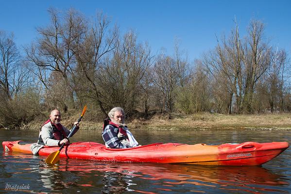 Spływ kajakowy Pilicą z Aleksandrem Dobą ©Agata Katafiasz-Matysiak