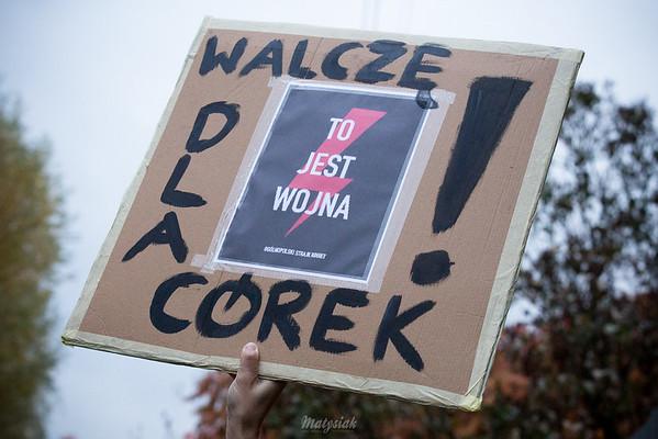 Strajk Kobiet Mszczonów ©Agata Katafiasz-Matysiak