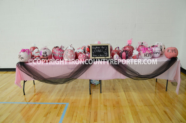 Wykon Volleyball vs Forest Park  Pink Out