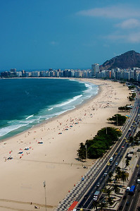 This is from my hotel room.  Copacabana Beach.