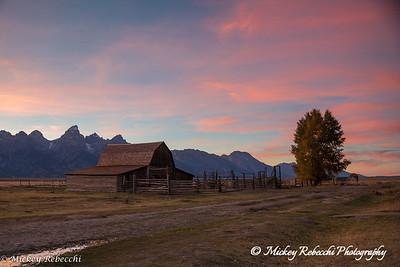Sunset Grand Tetons