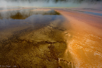 Detail, Grand Prismatic Spring #1, Yellowstone
