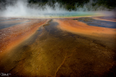 Detail, Grand Prismatic Spring #2, Yellowstone