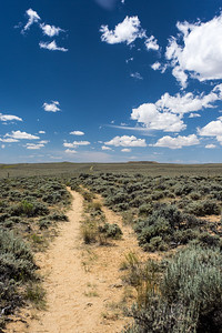 OREGON TRAIL RUTS      PARTING OF THE WAYS POINT    WYOMING