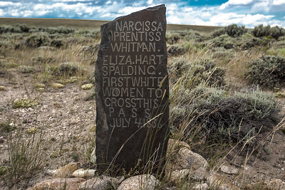 OREGON TRAIL MONUMENT ON SOUTH PASS    WYOMING