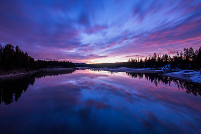 Colors of Morning over Yellowstone River