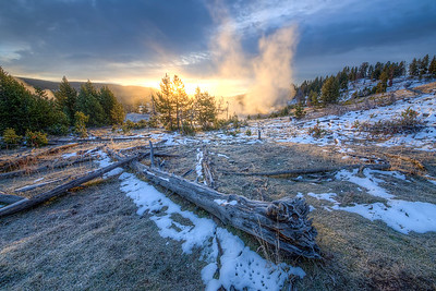 Yellowstone Geysers at Sunrise