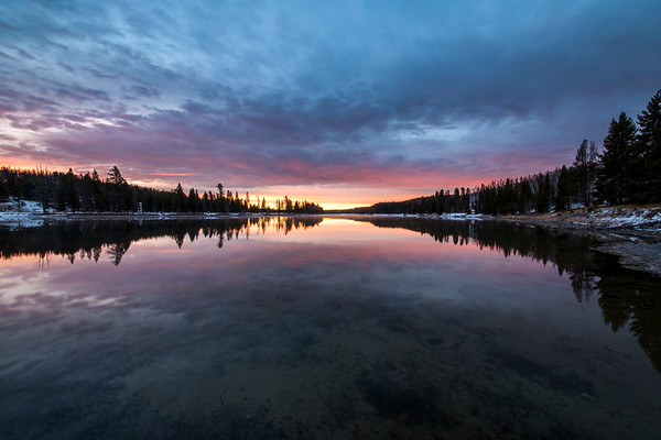 Yellowstone River Sunrise Colors