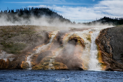 Grand Prismatic Spring Run off in to Firehole River, Yellowstone