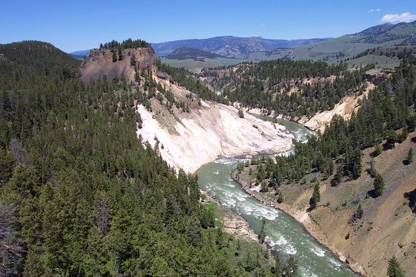 Bleached Cliffs of Yellowstone - 6/25/2002