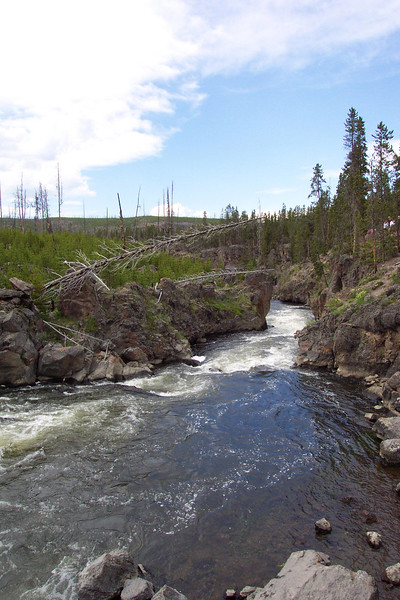 Firehole Falls and River - 6/26 & 27/ 2002