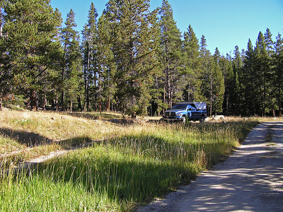 Here is my campground site.  Not very crowded.  The camp sites on either side of me were empty.