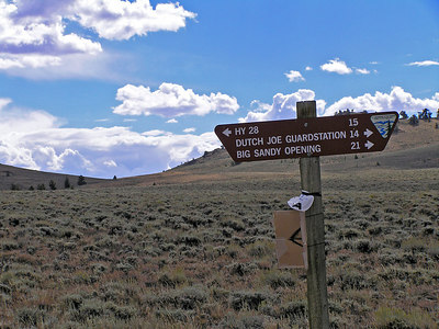This was pretty much the only sign on the road.  I came from HY 28 and I'm headed towards Big Sandy Opening (it's a REALLY REALLY humongous set of large meadows).