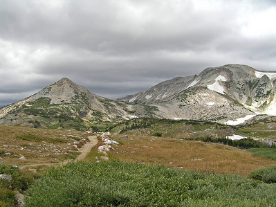 Looking back down the trail from the junction.
