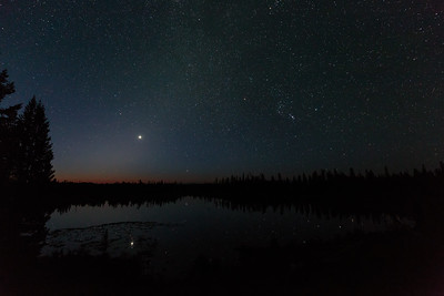 Zodiacal Light Over String Lake