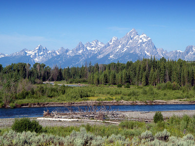 Grand Tetons and the Snake river.