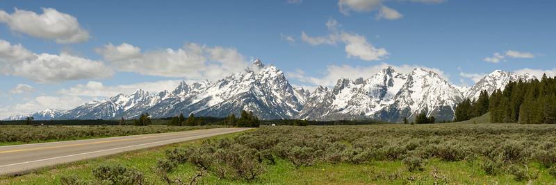 Mountain Range Across the Road