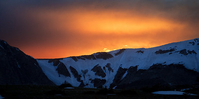 Sunset Glow over the Snowy Range