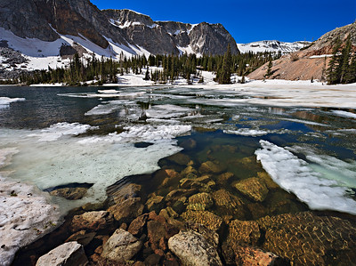 Lake Marie, late June ice melt 3 vertical image stitch - 24mm TS-E II