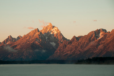 The Tetons at first light