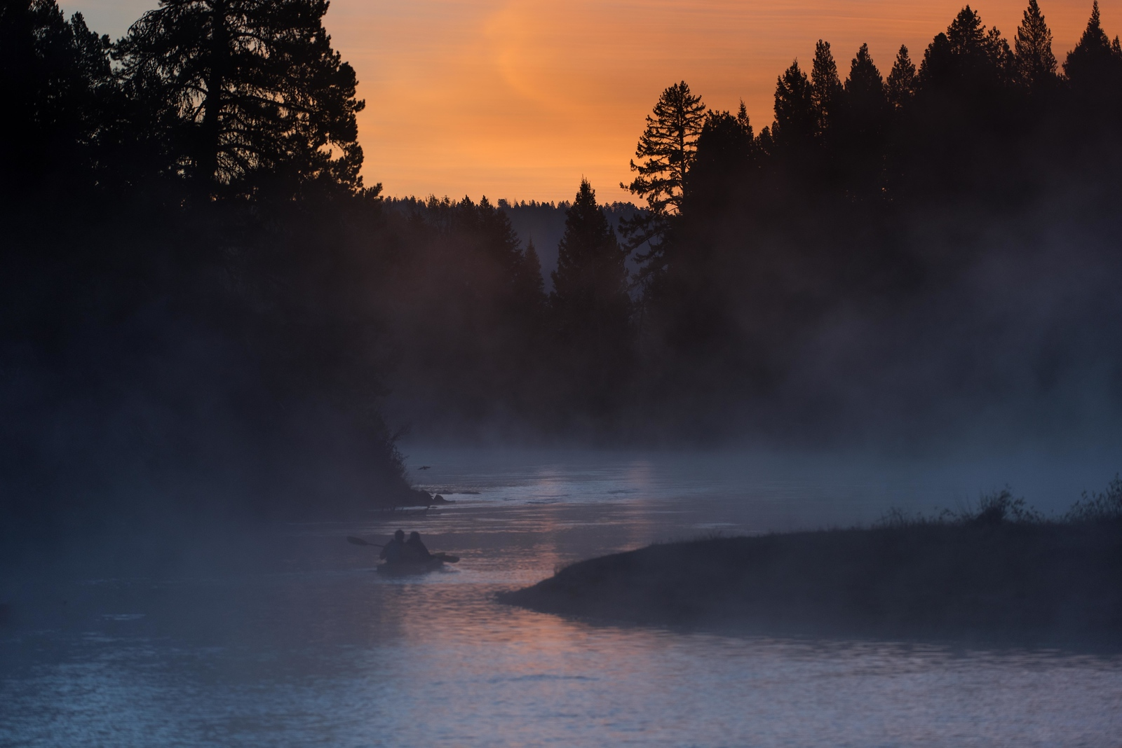 Pre Dawn on the Snake River, Jackson Hole, Wyoming