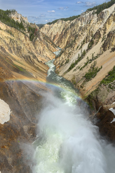 Rainbow Over Grand Canyon of the Yellowstone