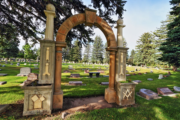 Masonic arch at the Sheridan Cemetery
