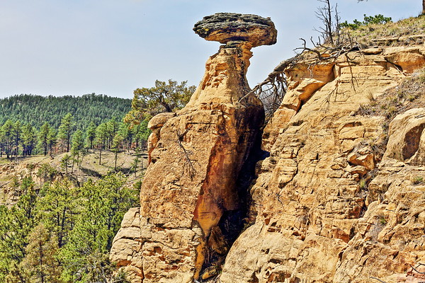 Balanced Rock along the Red Beds Trail near Devil's Tower National Monument