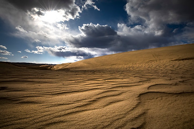 Spring afternoon at the Seminoe Sand Dunes north of Sinclair, Wyoming.   Photo by Kyle Spradley | © Kyle Spradley Photography | www.kspradleyphoto.com