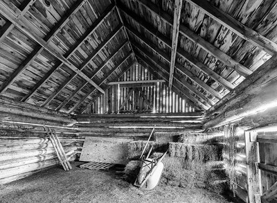 Day 4 of B&W Challenge: Hay Barn at the Absaroka Ranch