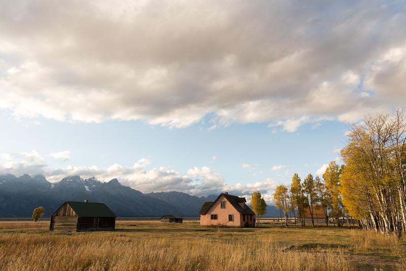 John Moulton Homestead and Teton Range, Teton County, WY