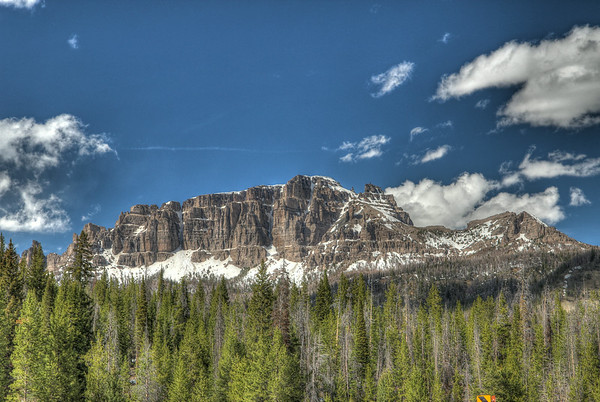 Pinnacle Butte rises out of the landscape as you cross Highway 26 in route to Moran and the Grand Tetons!