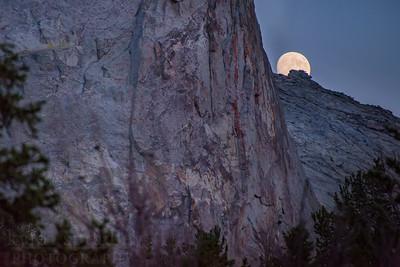 A full moon rises behind Haystack Mountain in the Wind River Range of Western Wyoming.  Photo by Kyle Spradley | © Kyle Spradley Photography | www.kspradleyphoto.com