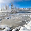 Ice and Snow Along the Firehole River
