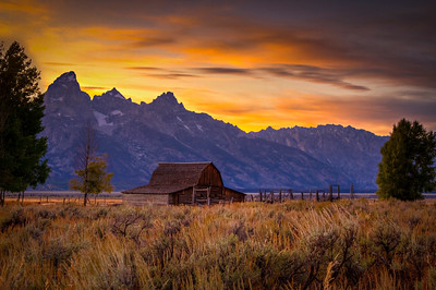 The infamous and iconic John Moulton Barn in Mormon Row at Grand Teton National Park in Wyoming.   Photo by Kyle Spradley | www.kspradleyphoto.com