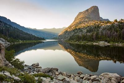 Sunrise at Black Joe Lake in the Wind RIver Range of Western Wyoming.   Photo by Kyle Spradley | © Kyle Spradley Photography | www.kspradleyphoto.com