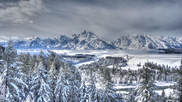Snow filled Jackson Hole