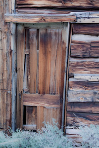 Entry door at Miners Delight, Wyoming cabin.