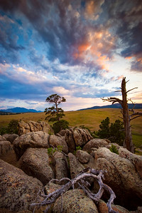 Nestled below Laramie Peak's north face is the area of Esterbrook. A historic log chapel highlights the scenic views of rock outcroppings and pine forests. Plenty of other picturesque landscapes abound the area just south of Douglas, Wyoming and is a favorite camping spot for locals.  Photo by Kyle Spradley | © Kyle Spradley Photography | www.kspradleyphoto.com