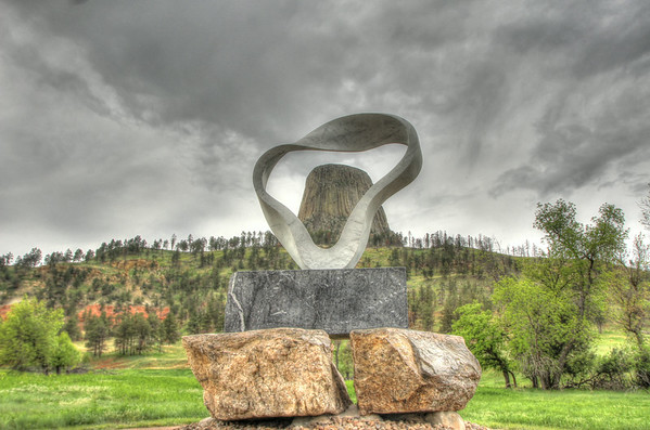 The circle of sacred smoke sculpture honors the Native American people and represents the first puff of smoke from a newly lit pipe.  According to the National Park Service, over twenty tribes have potential cultural affiliation with Devils Tower National Monument.