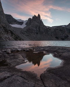 Wind River Sunset Reflection